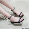 รองเท้าลำลองสไตล์ Givenchy (สีดำโซ่เงิน)