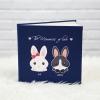 """อัลบั้ม 100 รูป (4x6"""") ลายกระต่ายคู่ Couple Rabbit - สั่งทำใส่ชื่อ"""