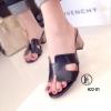 รองเท้า Hermes เสริมส้น (สีดำ)