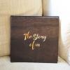 """อัลบั้ม 100 รูป (4x6"""") พร้อมส่ง ใส่ข้อความ The Story of us ลาย Wood"""