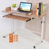 Pre-order โต๊ะทำงาน โต๊ะวางคอมพิวเตอร์ โต๊ะวางแล็ปท้อป มีที่วางคีย์บอร์ด ปรับระดับได มีล้อเลื่อน สีไม้