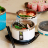 Pre-order กล่องอาหารกลางวันเก็บความร้อน ปิ่นโตสแตนเลสสตีล หุ้มด้วยพลาสติกสวยงาม 3 ชั้น สีฟ้า