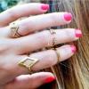 R-14. แหวนทองแฟชั่นข้อนิ้ว 5 วง