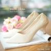 รองเท้าคัทชูหนัง Saffiano (สีทอง)