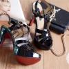 พร้อมส่ง : รองเท้าส้นเข็ม YSL Tribute สีดำ (รุ่นหนังแก้ว)