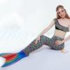 Rainbow Scale Mermaid Tail Set เสื้อแบบไหล่เฉียงครึ่งตัว