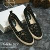 พร้อมส่ง : รองเท้าคัทชูผ้าลูกไม้ (สีดำ)