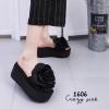 รองเท้าลำลองกุหลาบ (สีดำ)