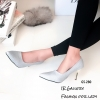 รองเท้าคัทชูกลิตเตอร์ส้นโลโหะ (สีเงิน)