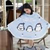 ผ้าคลุมให้นมพร้อมส่ง ลาย Penguin - Blue