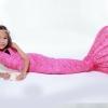 Pinky Scale Mermaid Tail Set เสื้อแบบผูกคอ