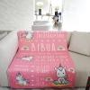 ผ้าห่ม ใส่ประวัติแรกเกิด ลายยูนิคอร์น สีชมพู ไซส์ใหญ่ 100x150cm / Unicorn - Pink
