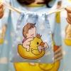 ถุงผ้าซาติน ลาย Ducky and Baby Boy