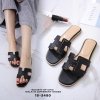 รองเท้าแตะ Style Hermes ฉลุลาย (สีดำ)