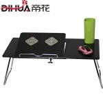 Pre-order ชุดโต๊ะคอมพิวเตอร์ โต๊ะแล็ปท้อป แบบมีพัดลมระบายอากาศ สีดำ