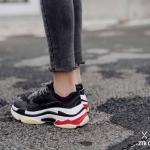 รองเท้าผ้าใบ Style Balenciaga Triple S (สีดำ)