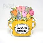 หมอนกระถางทิวลิปสีเหลือง Grow Old Together Tulip Bucket