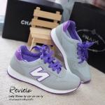 รองเท้าผ้าใบ Style NB ทรง sport (สีเทา)