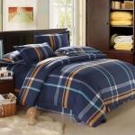 (Pre-order) ชุดผ้าปูที่นอน ปลอกหมอน ปลอกผ้าห่ม ผ้าคลุมเตียง ผ้าโพลีเอสเตอร์พิมพ์ลายสีน้ำเงิน