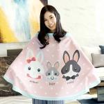 ผ้าคลุมให้นม ลาย Rabbit Family สีชมพู