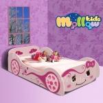 เตียงเด็กผู้หญิง รุ่น Pinky girl car