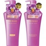 **พร้อมส่ง**Shiseido TSUBAKI Koji Volume Touch Shampoo+ Conditioner 500*2 ml. เซ็ทคู่ แชมพูและคอนดิชันเนอร์เข้มข้น ซึบากิ โคจิ ขวดม่วง เคลือบเส้นผมให้ดูเปล่งประกายเงางามตลอดทั้งเส้น ผสานคุณค่าทอรีน เพื่อบำรุงหนังศีรษะ ให้ยืดหยุ่นสุขภาพดี ยกโคนผมลีบแบน ให้