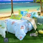 (Pre-order) ชุดผ้าปูที่นอน ปลอกหมอน ปลอกผ้าห่ม ผ้าคลุมเตียง ผ้าฝ้ายพิมพ์ลายทะเลสไตล์วินเทจ