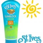 **พร้อมส่ง**St.Ives Sunblock Cream SPF 90 with Vitamin E 170 g. ครีมกันแดดสูตรอ่อนโยน ใช้ได้ทั้งตัว แม้ผิวแพ้ง่าย บนใบหน้า หรือแม้แต่ผิวเด็ก มีส่วนผสมของวิตามินอี ช่วยลดการอักเสบของผิวที่เกิดจากการเผาไหม้ของแสงแดด บำรุงผิวไม่ให้แห้ง แตก ลอก ,