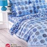 ชุดผ้าปูที่นอน ปลอกหมอน toto ผ้าห่มนวม toto (ชุดเครื่องนอนลายวงกลมสีน้ำเงิน-ฟ้า)