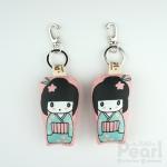 พวงกุญแจตุ๊กตาญี่ปุ่นหญิง