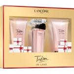 **พร้อมส่ง**เซ็ทของขวัญ Lancome Tresor In Love Set 30 ml. เซ็ทน้ำหอม+เจลอาบน้ำ+โลชั่นน้ำหอมกลิ่นมิราเคิล แนวกลิ่น ฟลอรัล - สไปซี่ ที่รวมความหอมหวานของลิ้นจี่ ผสมผสานความละมุนละไมของดอกแมคโนเลีย มะลิ และอำพันกลมกลืนไปกับเครื่องเทศบางเบา สะท้อนจิตวิญญ ,