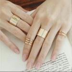 ส่งฟรี แหวน 3 ชิ้น สีทอง ปรับขนาดได้