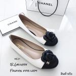 รองเท้าคัทชู Style Chanel (สีขาว)
