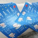 ผ้าห่ม ใส่ประวัติแรกเกิด ลายแพะ สีน้ำเงิน ไซส์ใหญ่ 100x150cm