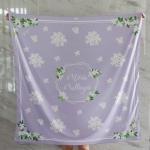 ผ้าพันคอ ลาย Jasmine - Hexagon - Lavender สั่งทำใส่ชื่อ