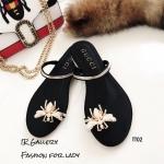 รองเท้าแตะผึ้ง Style Gucci (สีดำ)