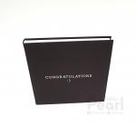 อัลบั้ม 100 รูป Congratulations สไตล์มินิมอล สีน้ำตาลเข้ม