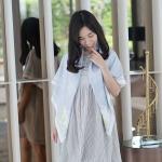 ของขวัญวันแม่ ผ้าพันคอ ลาย Jasmine - Bow - Grey (พร้อมส่ง 1-4 สค.)