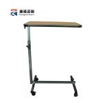 Pre-order โต๊ะทำงานปรับระดับ โต๊ะแล็ปท็อป โต๊ะวางคอมพิวเตอร์ โต๊ะพรีเซนต์งาน ปรับระดับได้ มีล้อเลื่อน สีน้ำตาล