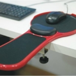 Pre-order แผ่นรองเม้า-รองแขนทำงานคอมพิวเตอร์ สีดำ-แดง สำเนา