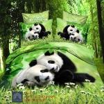(Pre-order) ชุดผ้าปูที่นอน ปลอกหมอน ปลอกผ้าห่ม ผ้าคลุมเตียง ผ้าฝ้ายพิมพ์ 3D รูปหมีแพนด้า