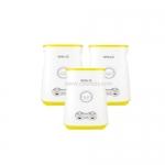 เครื่องทำไข่ม้วนกระบอกคู่ Sorge สีขาวเหลือง จำนวน 3 เครื่อง