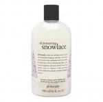 **พร้อมส่ง**Philosophy Shampoo, Shower Gel & Bubble Bath 480 ml. (Limited Edition) กลิ่น Shimmering Snowlace เจลอาบน้ำกลิ่นหอมเย้ายวนลิมิเต็ดอิดิชั่น กลิ่นสะอาด ธรรมชาติแบบคลีนๆเป็นครีมอาบน้ำชิมเมอร์แบบวิ้งๆ ต่างจากสูตรอื่นค่ะ ,