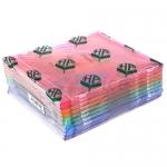 กล่องใส่แผ่นCD ตกแตก (10กล่อง) สลิม คละสี