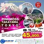 GOAL JAPAN TAKAYAMA PINKMOSS TOKYO 6 วัน 3 คืน สายการบินเจแปน แอร์ไลน์ BY JL