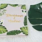 """อัลบั้ม 300 รูป (4x6"""") ลาย Palm Leaf - สั่งทำใส่ชื่อ"""