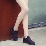 รองเท้าผ้าใบสวมทรงSportแต่งเมจิกเทป (สีดำ)