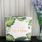 """อัลบั้ม 100 รูป (4x6"""") ลาย Palm Leaf - สั่งทำใส่ชื่อ"""