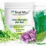"Final MaX Alfa Chlorophyll Plus Fiber ไฟนอล แม็กซ์ อัลฟ่า คลอโรฟิลล์ พลัส ไฟเบอร์ อัลฟาฟ่า"" คลอโรฟิลล์ บริสุทธิ์ เข้มข้น 100%"