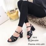 รองเท้าส้นตัน Style YSl (สีดำ)
